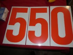 Vintage Gas Station Price Board Numbers 2 Sided Orange And White 13 X 6 3/4