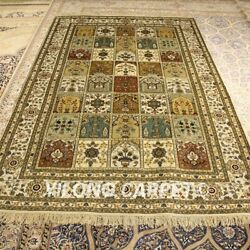 Yilong 5'x8' Patchwork Handmade Silk Rug Antique Hand Knotted Home Carpets 178ab