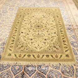 Clearance Yilong 4and039x6and039 Medallion Handmade Wool Rug Top Hand-knotted Carpet 2091