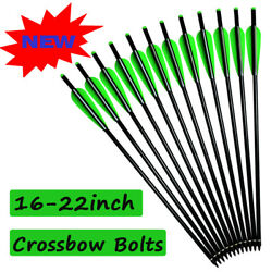 Archery Aluminum Arrows Crossbow Bolts For Outdoor Targeting Hunting 16-22 Inch
