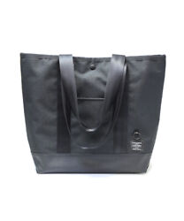 Porter Jam Home Made Pvc A4 Tote Bag Leather Patch Black Made In Japan New