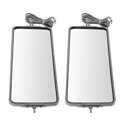 16 X 7 Stainless Steel West Coast Mirror Pair Heated Led Light Lh And Rh Sides
