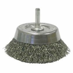 Weiler 14302 Stem Mounted Wire Cup Brush, 30/case