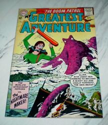 My Greatest Adventure 81 Nm 9.4 Ow Pages Unrestored 1963 Dc 2nd Doom Patrol