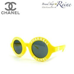 Chanel Pharrell Williams Capsule Collection Round Logo Sunglasses A71314 Yellow