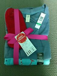 Hue Holiday Sleepwear Gift Set Size Large $10.00