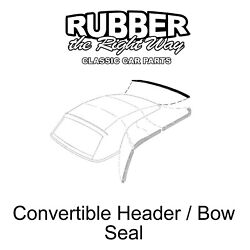 1957 1958 Ford And Edsel Convertible Top Header / Bow Seal