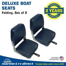 Marine And Rv Direct Deluxe Folding Marine Boat Seats In Blue Set Of 2