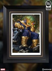 For Sell Brand New Sideshow In Frame Thanos On Throne Variant Premium Art Print