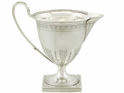 Antique George Iii Sterling Silver Cream Jug By Henry Chawner 1794
