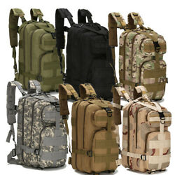 Military Molle Camping Backpack Camping Hiking Travel Tactical Bag 28L Outdoor $16.99