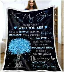 To My Son - Important Thing Quilt Blanket Fleece Blanket Printer In Us