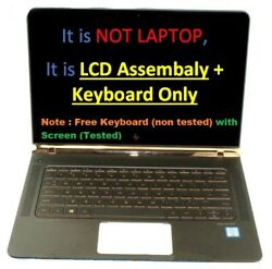 13.3 Fhd Lcd Screen Assembly With Keyboard Palmrest For Hp Spectre 13-v011dx