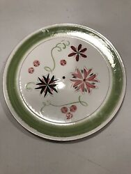 Stangl Carnival - Large Round 12.5 Serving Chop Plate Drilled For Tidbit
