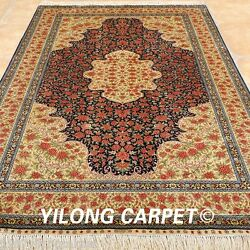 Yilong 5and039x8and039 Pictorial Silk Area Rugs Hand Knotted Medium Carpets Handmade 1033