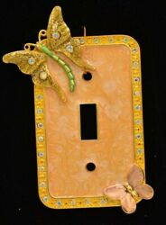 Kirks Folly Enchanting Home Collection Light Switch Plate Butterfly Glitter Rare