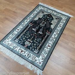 Yilong 3and039x5and039 Handmade Carpets Hand Knotted Silk Fine Tree Of Life Area Rugs 335b