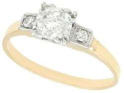 0.65 Ct Diamond And 14k Yellow Gold Solitaire Ring - Vintage Circa 1940