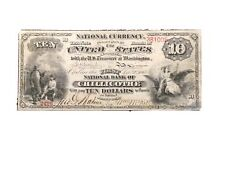 National Bank Note Chillicothe Ohio Only1865 First Charter 10.00 Known Damaged