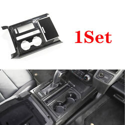 Middle Console Gear Shift Frame Trim Dry Carbon Fiber For Ford F-150 2015-2020