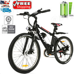 26inch Electric Bike Mountain Bicycle Ebike 36v Lithium-ion Battery350w Motor