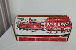 Ideal's Fire Boat Toy Working Siren And Box