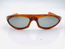 Vintage Cool Ray Polaroid Cari Michelle Brown Oval Sunglasses Frames $53.90