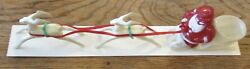 1950s Rosbro Santa's Candy Flyer Hard Plastic Container 2 Reindeer B