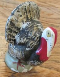 Vintage Thanksgiving Composition Turkey Candy Container