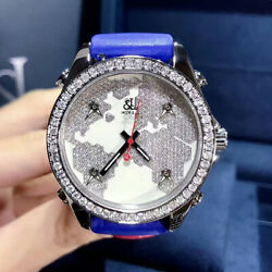 New Jacob&Co. Five Time Zones JC-M47SW Stainless Steel with Diamonds 40mm Watch
