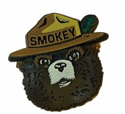 Smokey The Bear Firefighting Rescue Prevent Forest Fire Pinback Button Pin Hat