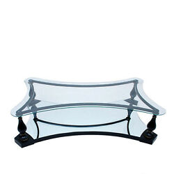Midcentury Neoclassical Black Iron Brass And Glass Coffee Table By Arturo Pani