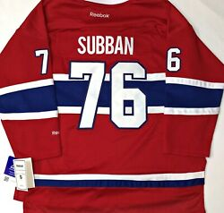 120-youth-nwt-l/xl Pk Subban Montreal Canadiens Licensed Reebok Hockey Jersey