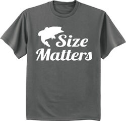 Mens Big And Tall T-shirts Graphic Tee Funny Fishing T-shirt Size Matters
