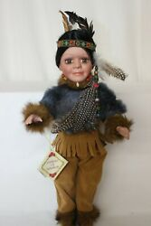 Native American Indian Porcelain Doll-limited Edition Collectible Dolls New