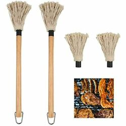 2 Pack Bbq Basting Mop, Professional Barbecue Sauce Large With Wood Handle Head