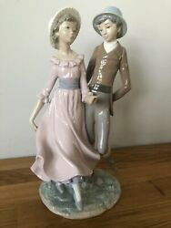 Nao By Lladro Rare Collectibles Hand Made Figurine Boy With Girl