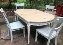 Farmhouse Dinning Table And Chair Set 5 Pieces