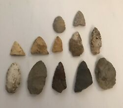 Lot Of Authentic Arrowheads And Spearheads