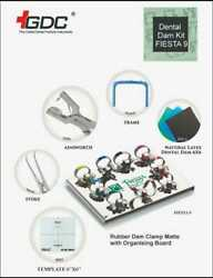Dental Rubber Dam Kit Premium With Fiesta Clamp Set By Gdc + 2 Sheet Pack Free