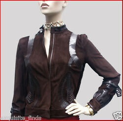 3930 New Fendi Brown Suede Leather Jacket 40 - 4