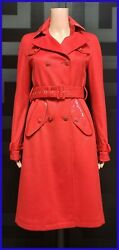 New Versace Incredibly Soft Red 100 Cashmere Coat 38 - 2