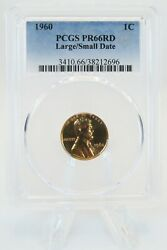 1960-p Pcgs Pr66rd Large/small Date Lincoln Cent Proof 1c Rare