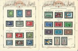 Europa Stamp Collection On 8 White Ace Pages, 1961-1963, Jfz