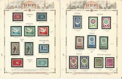 Europa Stamp Collection On 12 White Ace Pages, 1963-1966, Jfz
