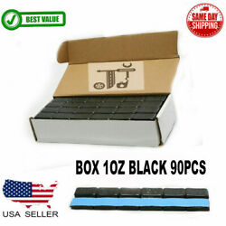 1 Box 1 Oz Black Wheel Weights Stick-on Adhesive Tape Lead-free 90 Pieces