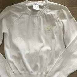 Rare Chanel Long Sleeve Cut And Sew A T Shirt Shirt Blouse Size S No.88423