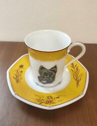 Out Of Print End Of Items Super Rare Hermes Scottish Terrier Dog Cup Sa No.94113