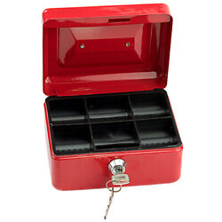 Stainless Steel Small Safe Box Jewelry Cash Security Lock Type Case W/keys Hotel