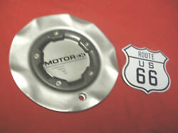 Qty X1 Motor Ex Custom Silver Coated With Charcoal Ring Wheel Center Cap Hubcap